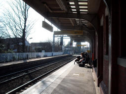 Looking towards the main entrance from the middle of the platform