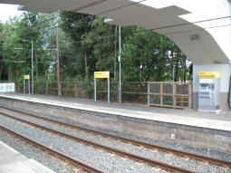 Looking across to the part of the platform for trams to Manchester that is finished