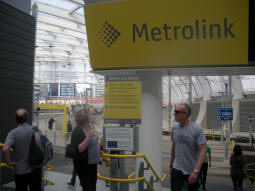 The entrance to Metrolink from the railway station concourse