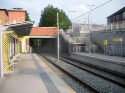The platforms from the platform for trams to East Didsbury