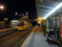 The platforms from the one for trams to East Didsbury and Manchester Airport
