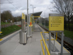 Sale Water Park station: Looking along the platform